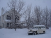1960 Willys Station Wagon in the Snow