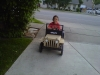 Trey and his pedal car