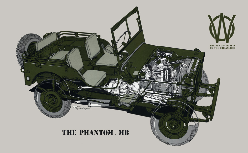 MB Phantom Willys Vintage Poster