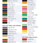 Willys Jeep Color Guide 1946-1963