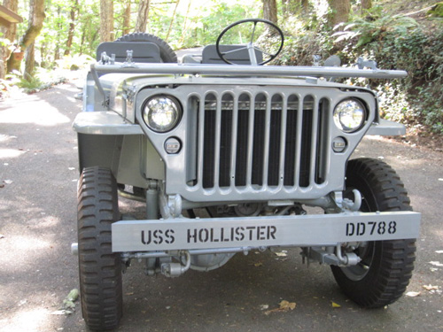 Restore the Navy Jeep for him