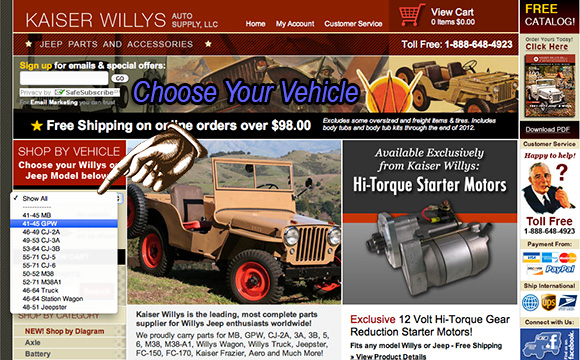 Shop Willys Jeep Parts by Vehicle - New Feature!