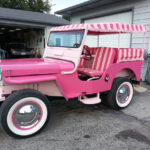 The Pilgrams' Pink Surrey Jeep – Elvis Style