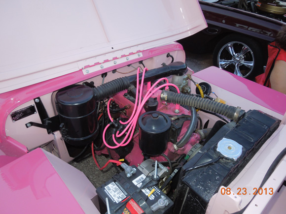 Debbie and Steve Pilgram's 1947 Willys CJ-2A / Pink Surrey Recreation