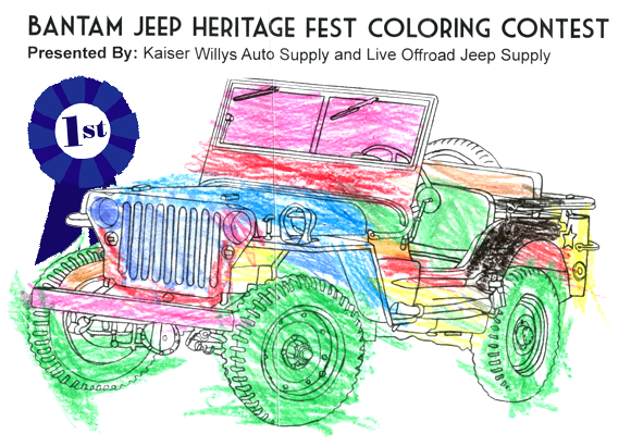 Bantam Jeep Kaiser Willys Contest Coloring Winner