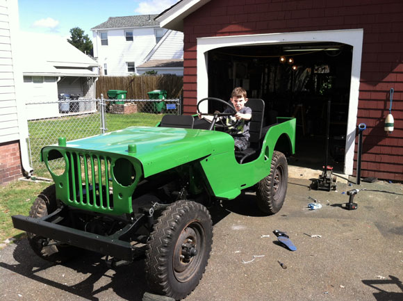 wn Keeley's 1948 Willys CJ-2A