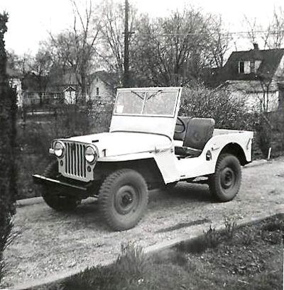Christ Moyer's 1946 Willys CJ-2A in 1954