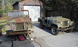 Ira Jones - Two Willys M38A1s