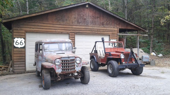 Brian Oldham's 1947 CJ-2A and 1953 Wagon