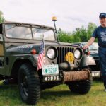 Charlie Bourret and his 1952 Willys M38A1