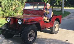 Don and Amanda Simon - 1947 Willys CJ-2A
