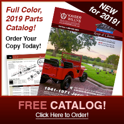 2019 Kaiser Willys Jeep Parts Catalog
