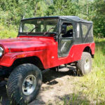 A Retired Fire Department CJ-6 Jeep is Now Exploring the Rocky Mountains