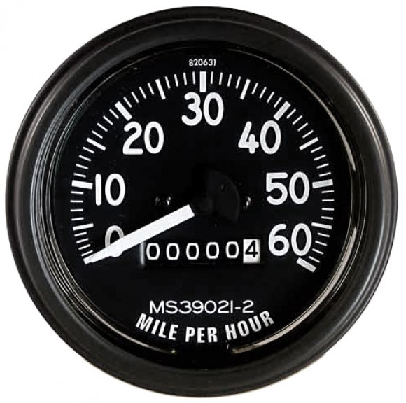 Complete Speedometer Assembly 0-60 MPH Fits 46-64 CJ-2A, 3A, 3B   Speedo Gauge Wiring Diagram Willys Jeep      Kaiser Willys