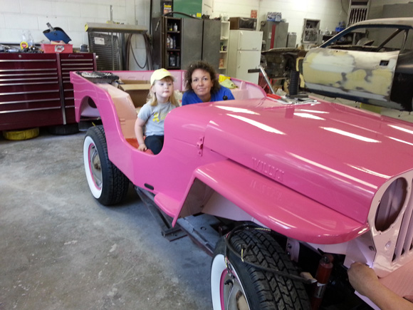 Debbie and Steve Pilgram's 1947 Willys CJ-2A / Pink Surrey Recreation