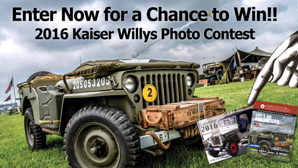 Enter Now For a Chance to Win in the 2016 Kaiser Willys Photo Contest!!