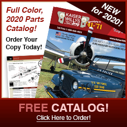 2020 Kaiser Willys Jeep Parts Catalog